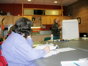 Me teaching at Willy St. Coop-East last fall