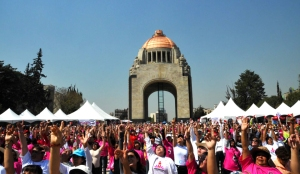 Mexico City Rising, Over ten thousand people gather in Mexico City's Monumento Revolución (Photo Credit: Karla Danitza Alderete) >