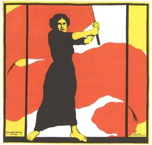 http://commons.wikimedia.org/wiki/File:Frauentag_1914_Heraus_mit_dem_Frauenwahlrecht.jpg