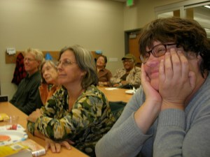 Listeners at a South Madison Story Night