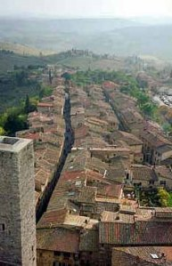 View from San Gimignano, Tuscany, 1997