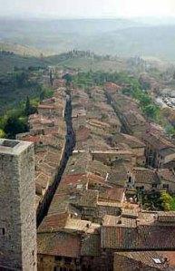 View from San Gimignano, Tuscany, 1997