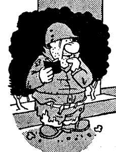 In 1942, Dick Wingert was hired by the London-based team of the American army magazine, Stars and Stripes. Here, he created the character of Hubert, the stereotype of a simple soldier. My father served with Wingert on the Stars and Stripes, and I am told he was the model for Hubert.