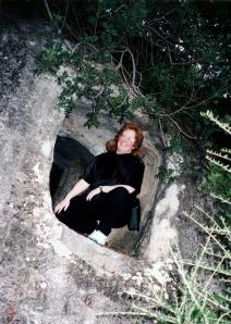 Sarah in a Domus de Janas, Sardinia, 11/2/1997
