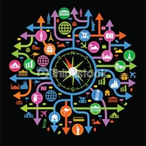 164469379 compass travel art