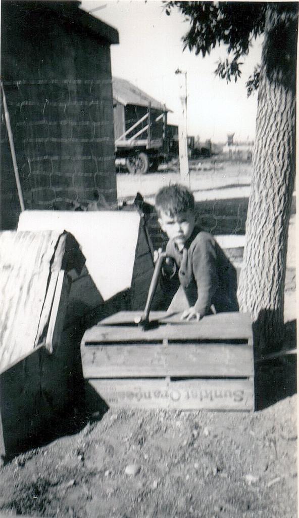 Landwher boy with hammer