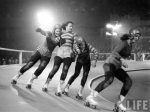 Vintage Roller Derby Photo Credit - Life Magazine