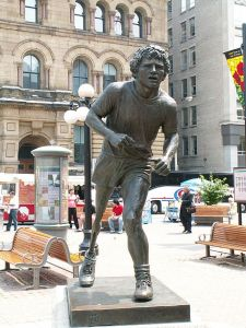 Terry Fox statue in Ottowa, Canada.