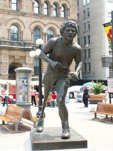 Terry Fox statue in Ottowa, Canada.