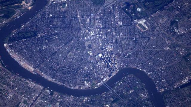 new orleans from international space station