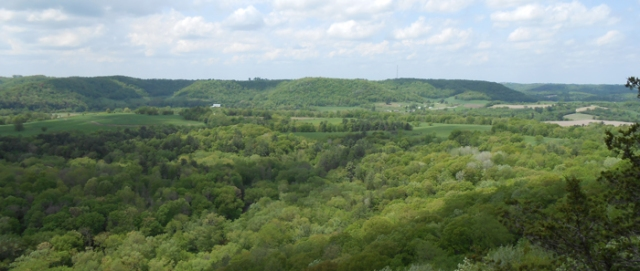 Wisconsin State Park System Wildcat Mountain State Park. Vista from the top of the park. Source: DNR.gov