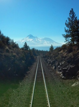 Mount Shasta receding from view. Photo by the author.