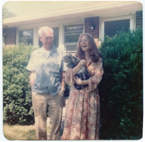 May 1974, my high school graduation, taken with my father in front of our home in Carmel, Indiana.