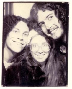 Dale, Sarah, and Seth circa 1977. Some hair!